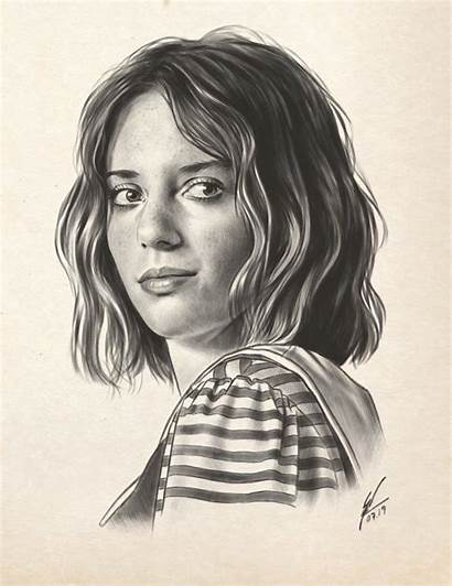 Stranger Things Eleven Drawings Robin Pencil Draw