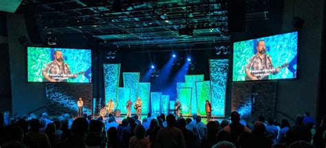 rock stage church stage design ideas