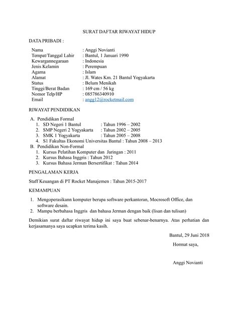 Contoh Surat Cv Suratmenyuratnet