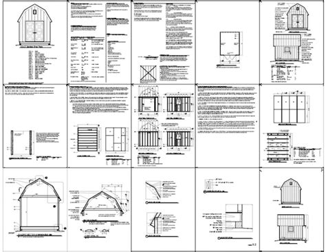 10x12 barn shed plans gambrel shed plans