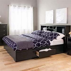 King, Mate, U0026, 39, S, Platform, Storage, Bed, With, 6, Drawers, Black, Box, 1, Of, 3, -, Walmart, Com
