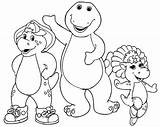 Barney Coloring Pages Friends sketch template