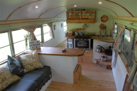 amazing short bus conversion interior ideas  cozy