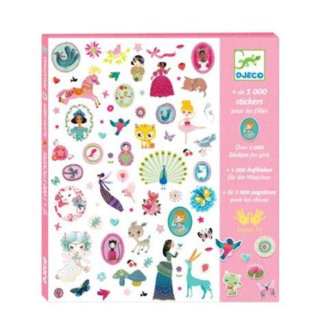 jouet pour siege auto 1000 stickers pour les filles djeco pour enfant de 4 ans à