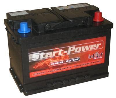 batterie 74 ah intact startpower autobatterie 12v 74 ah din 57412