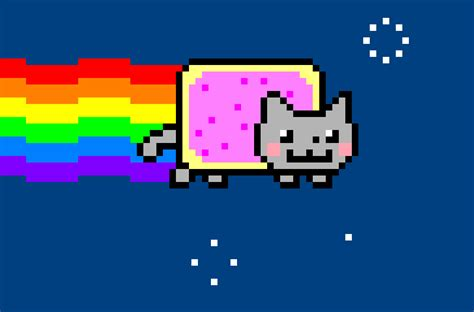 nyan cat drawing  dragonollie  deviantart