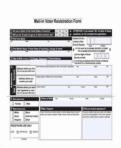 7 Voter Registration Form Samples Free Sample Example