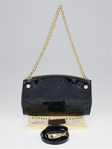 louis vuitton black monogram vernis santa monica clutch