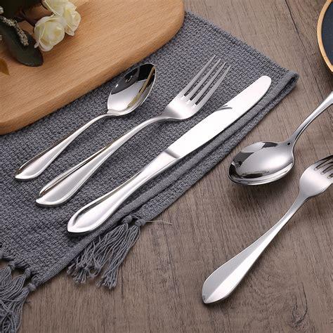 cutlery stainless steel rated flatware grade silverware elegant restaurant wholesale food silver hotel amazon