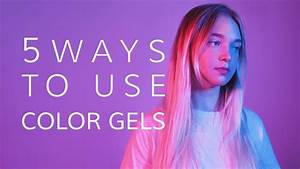 5 Ways to use Color Gels in Studio Photo Shoots