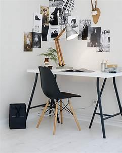 Bureau Noir Et Blanc : un bureau en noir et blanc shake my blog ~ Melissatoandfro.com Idées de Décoration