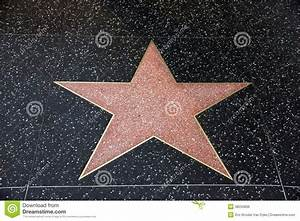 A Blank Star In Hollywood Walk Of Fame Stock Photo - Image ...