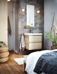 Salle De Bain Grise Et Bois : 15 salles de bains grises elle d coration ~ Melissatoandfro.com Idées de Décoration