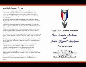175 best eagle scout ceremony images on pinterest boy With eagle scout program template