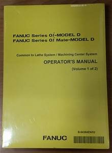 Operator U0026 39 S Manual For Common To Lathe System  Fanuc Series