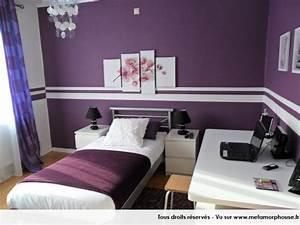 deco chambre mauve et blanc With chambre blanc et violet