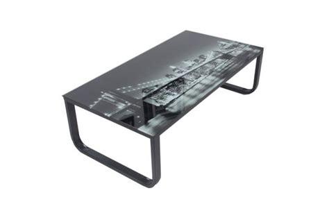 plateau verre trempé bureau table basse avec plateau verre eastriver design sur sofactory
