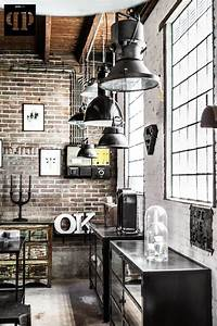 Brick walls industrial chic home decor home design for Best brand of paint for kitchen cabinets with french themed wall art