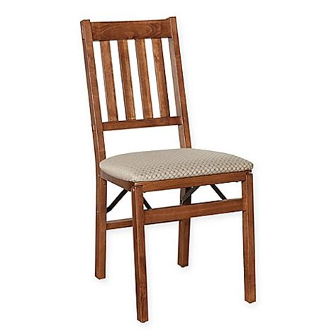 stakmore folding chairs buy stakmore arts crafts wood folding chairs in cherry set of 2 from bed bath beyond