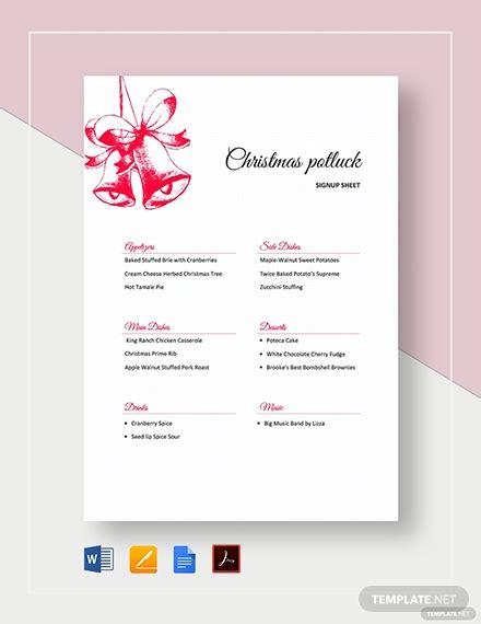 thanksgiving potluck signup sheet template word google