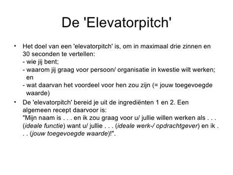 Curriculum Vitae Elevator Pitch by Elevatorpitch