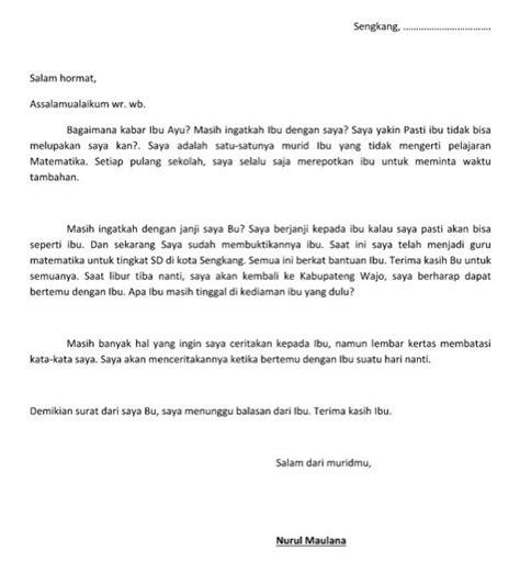 contoh surat pribadi untuk guru keperluan tertentu file
