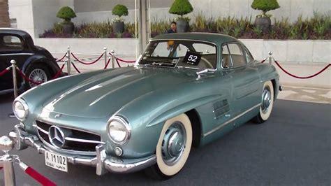 Mercedes Classic Car by Mercedes 300sl Gullwing 1955 Dubai Classic Car Show