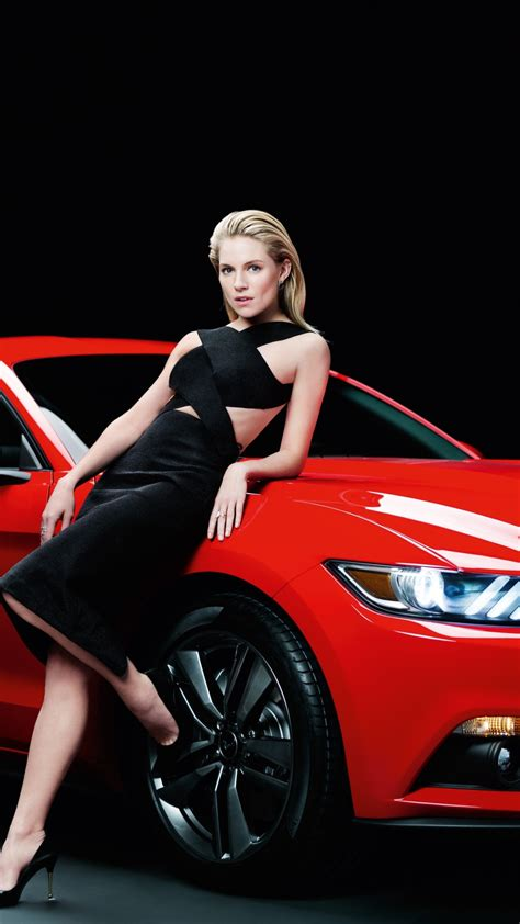 wallpaper ford mustang sienna miller girl red coupe