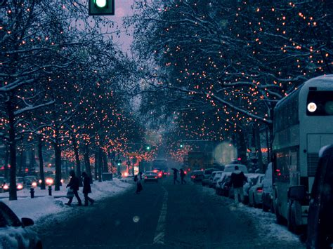 Snow Lights by Lights In Berlin Picture Of A Road With A