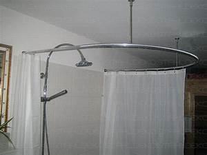 Halterung Für Duschvorhang : duschvorhangstange u form barrierefrei f r badewannen oder dusche edelstahl oder wei ~ Markanthonyermac.com Haus und Dekorationen