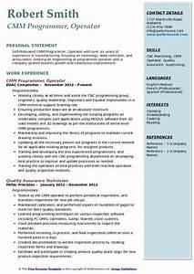 Best Resume Samples For Software Engineers Cmm Programmer Resume Samples Qwikresume