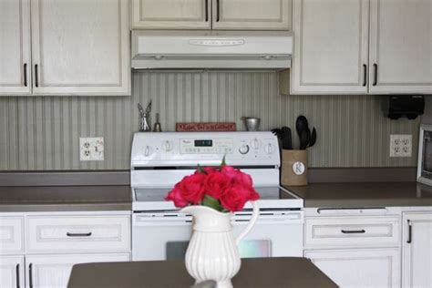 beadboard kitchen cabinets home depot cheap backsplash 12 roll of paintable beadboard 7616