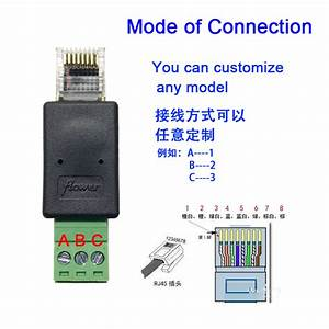Rj45 To 3pin Terminal Rj45 To Rs485 Terminal Simple