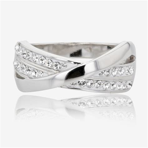 lucille sterling silver ring made with swarovski 174 crystals
