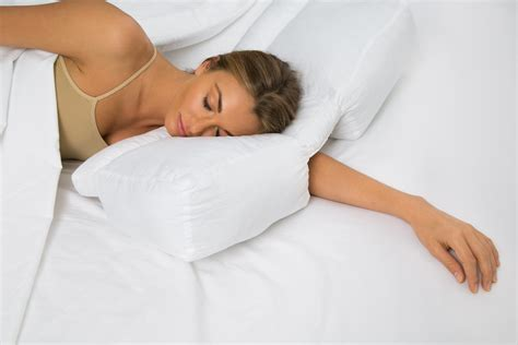 pillow for stomach sleepers better sleep pillow gel fiber pillow patented arm tunnel