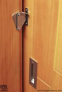 teardrop privacy lock for sliding doors privacy lock With barn door hardware and door combo