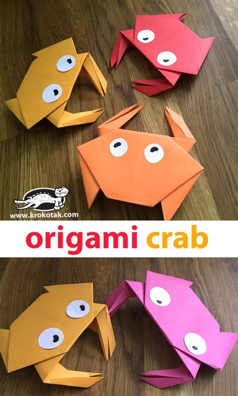 krokotak origami crab