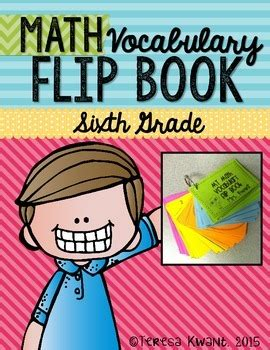 grade common core math vocabulary flip book  teresa