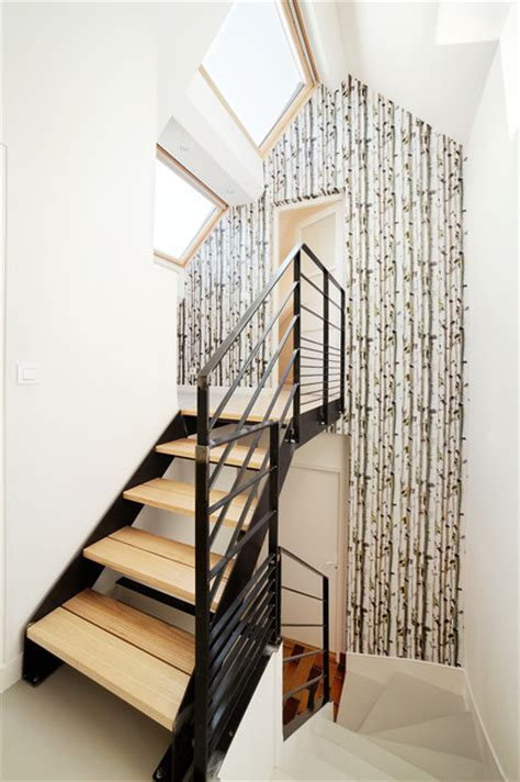 am 233 nagement cage d escalier scandinavian staircase rennes by o2 concept architecture