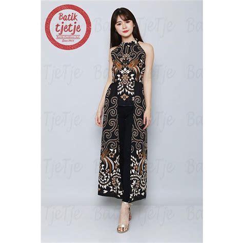desain baju batik wanita modern casual kombinasi terbaru