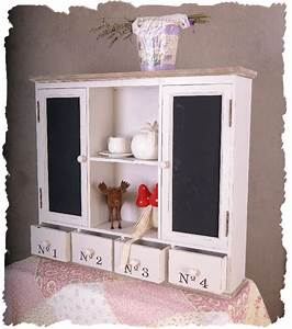 Regal Shabby Chic : nostalgischer schrank regal vintage stil shabby chic weiss ebay ~ One.caynefoto.club Haus und Dekorationen