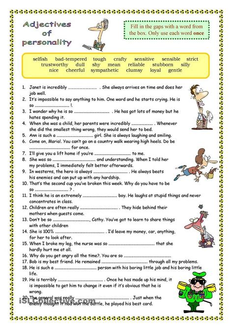 25 best ideas about personality adjectives on