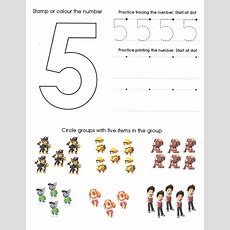 Paw Patrol Number Worksheet 5  Homeschool  Pinterest  Patrol, Numbers And Number Worksheets