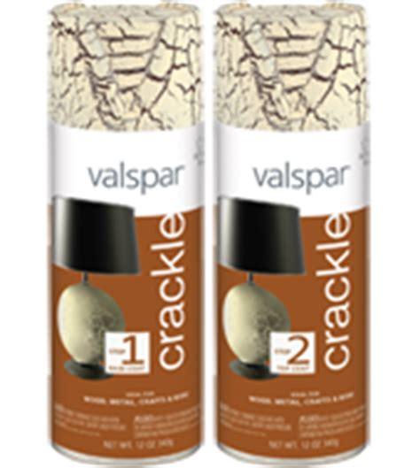 valspar crackle top and base coat spray