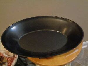 stick oval  qt baking pan cookware serving pan  lid    inches ebay