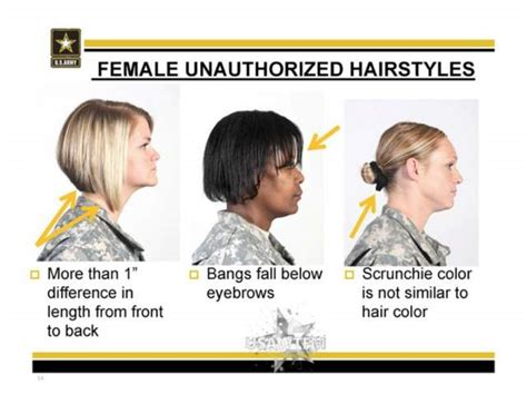 army unauthorized hairstyles  women