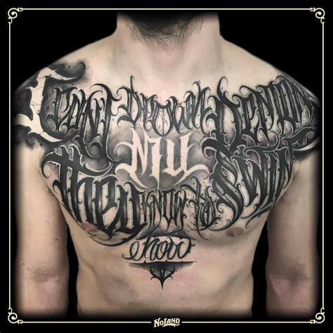 gabri  lettering  land tattoo parlour valencia pecho
