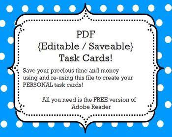 task cards template editablesavable   ms nylak tpt