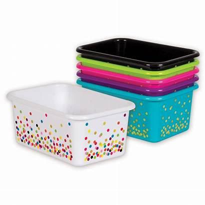Plastic Bins Storage Assorted Confetti Pack Bin