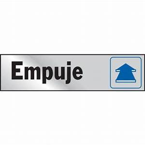 HY-KO 2 in. x 8 in. Aluminum Empuje Sign-20812 - The Home ...